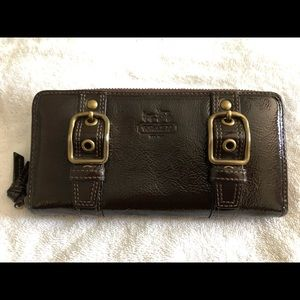 Coach Brown Patent Leather Wallet Like New